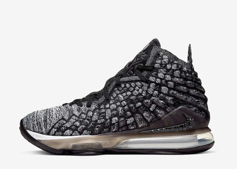 Nike LeBron 17 black white BQ3177-002 thumb