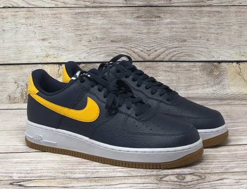 Nike Air Force 1 Low '07 Navy Gold Yellow
