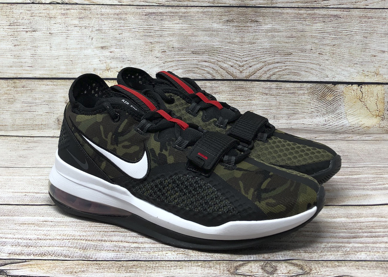 Nike Air Force Max Low Camo BV0651 004 black white university red4