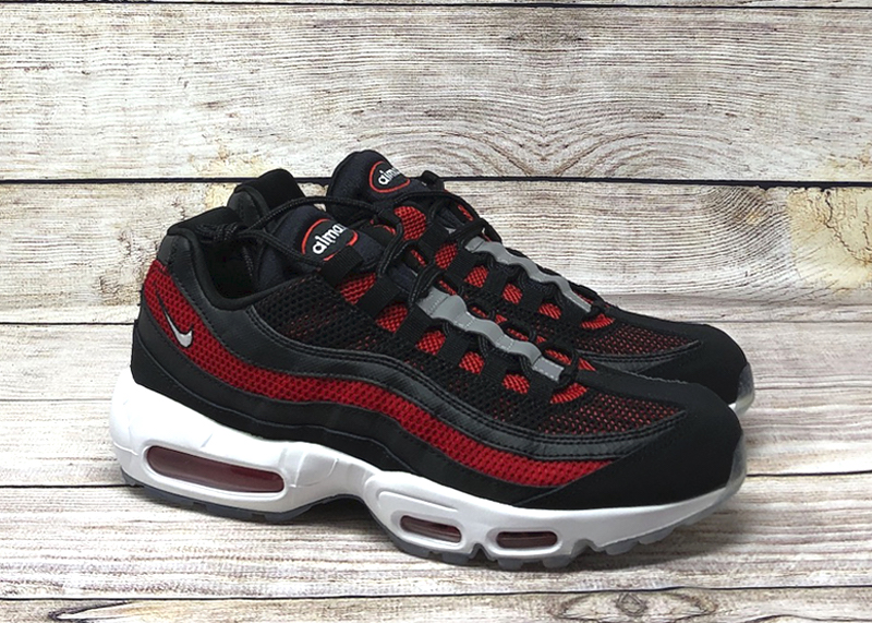 Nike Air Max 95 Black White University Red 749766 039 sale 2
