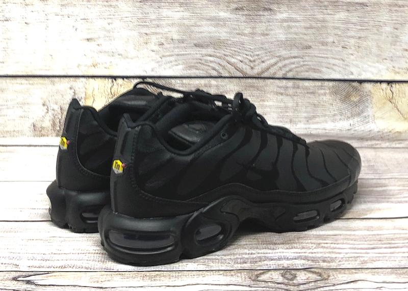Nike Air Max Plus leather triple black AJ2029 001 2