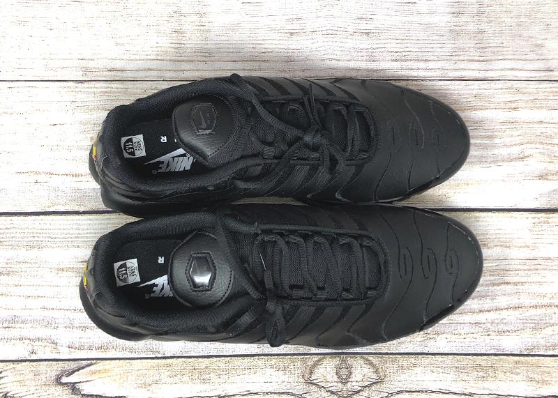 Nike Air Max Plus leather triple black AJ2029 001 3