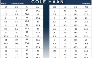 COLE HAAN Shoes Size Chart Men Women