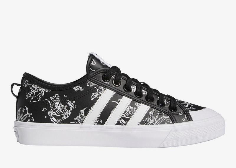 adidas Goofy Nizza black leather