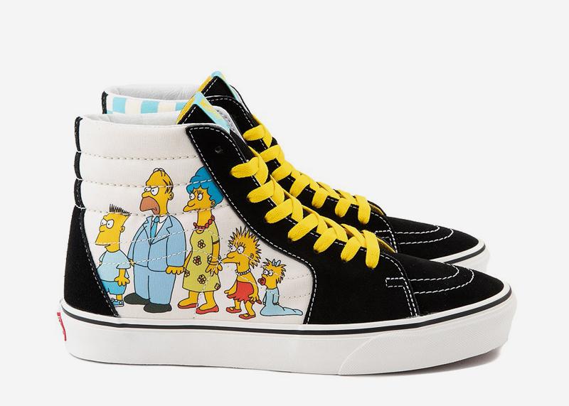 The Simpsons Family SK8 Shoe Vans