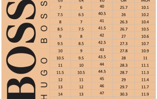 Hugo Boss Shoes Size Chart Men